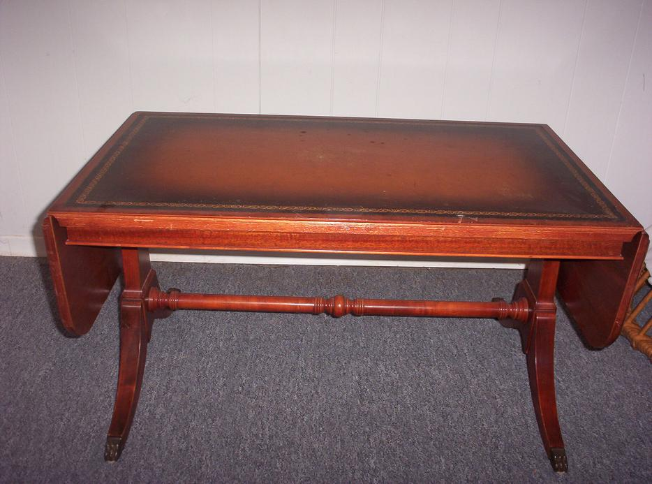 Antique leather top coffee table gatineau sector quebec for Coffee tables ottawa