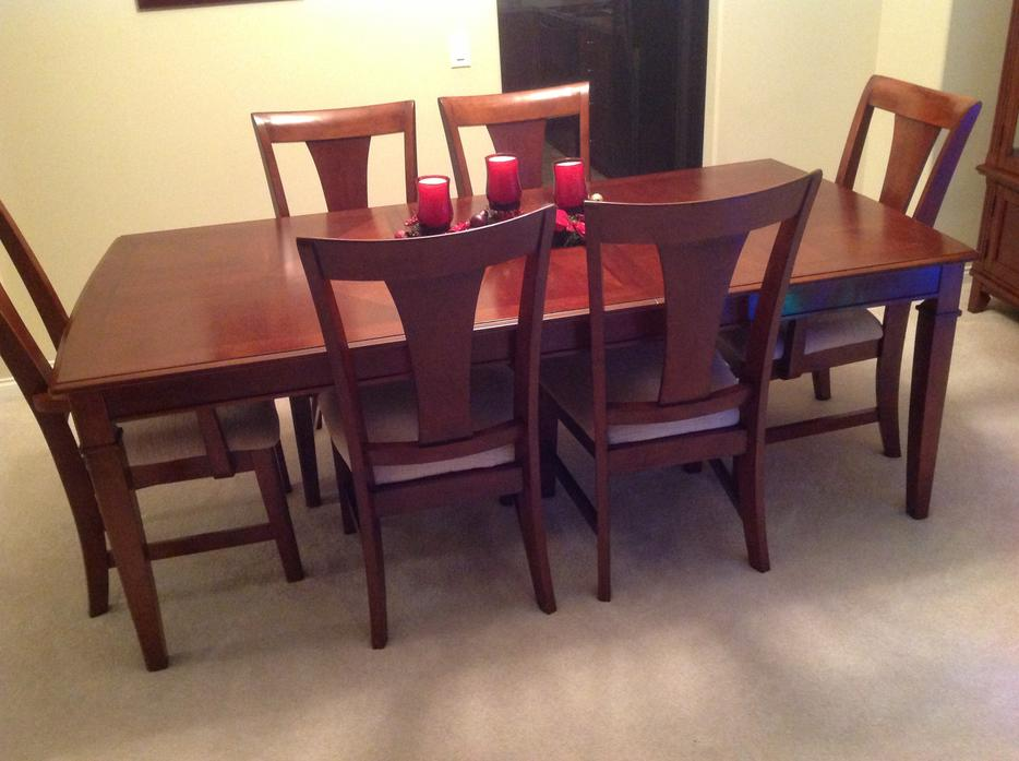 Mahogany Dining Set Table 6 Chairs Hutch Like New  : 43992934934 from www.usedvancouver.com size 934 x 697 jpeg 68kB