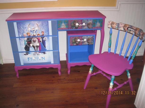 Frozen Desk Chair And Night Table West Regina Regina