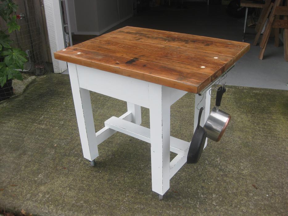 Butcher Block Kitchen Prep Table : VINTAGE 1950 KITCHEN PREP TABLE / BUTCHER BLOCK TABLE North Nanaimo, Nanaimo
