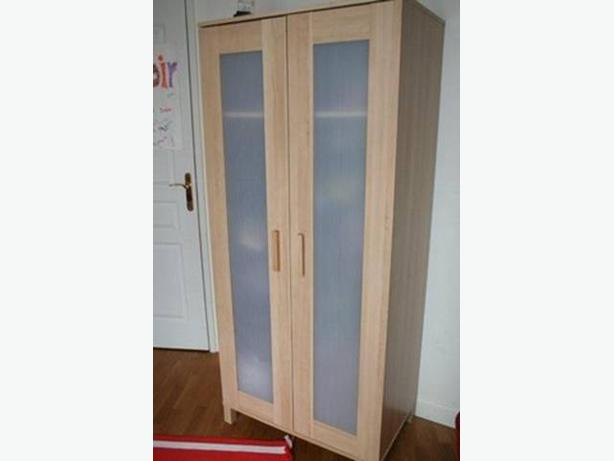Ikea Aneboda Dresser Slides ~ Wardrobe storage with a rail and shelf inside Good condition  just
