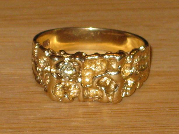 price reduced 10k gold nugget ring size 7 50