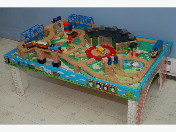 Used thomas the train table set for sale used