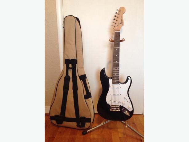on hold fender mini squier electric guitar soft case victoria city victoria. Black Bedroom Furniture Sets. Home Design Ideas
