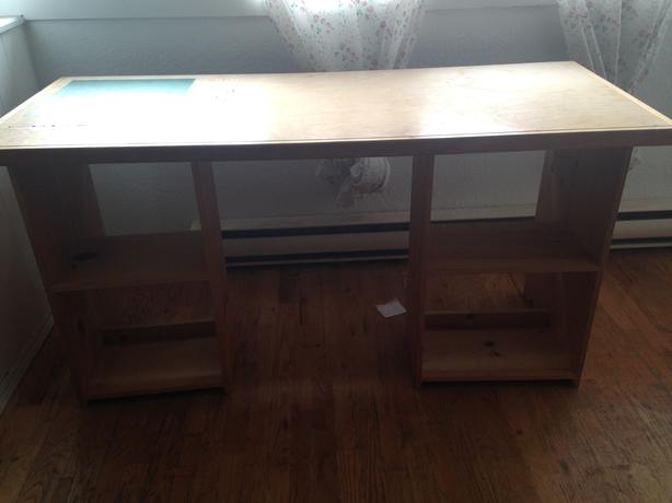 solid wood sturdy custom made wooden desk with shelves easy