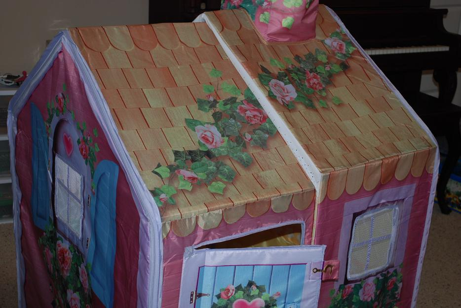 Rose Petal Cottage By Playskool W Doll Outside Nanaimo