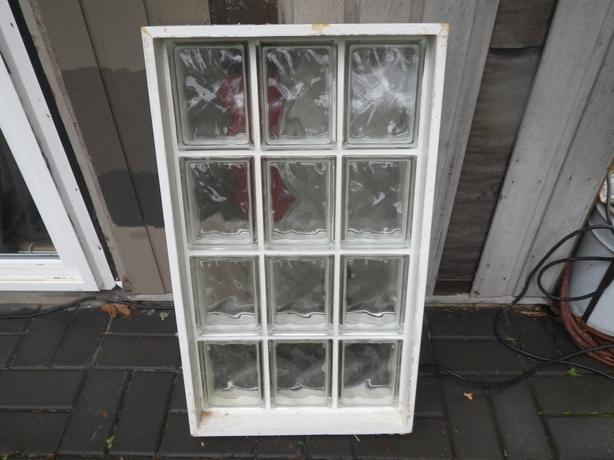 Glass block window central saanich victoria for Glass block window frame