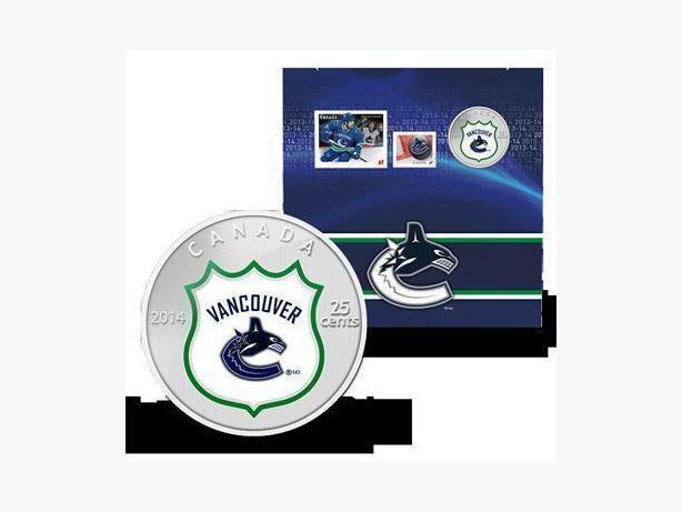 2014 NHL Coin and Stamp Gift Set - Vancouver Canucks