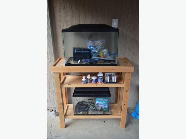 20 gallon 10 gallon fish tanks with accessories and for Fish tank stand 20 gallon