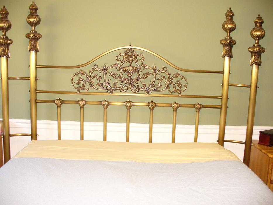 queen size quality brass bed frame made in canada parksville nanaimo