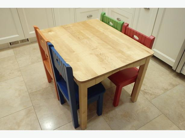 cafe kid furniture cafe kid solid wood table and chairs ages 2 7 east 10973