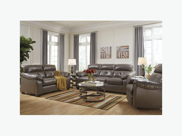 New Bastrop Steel Leather Sofa Collection North Nanaimo