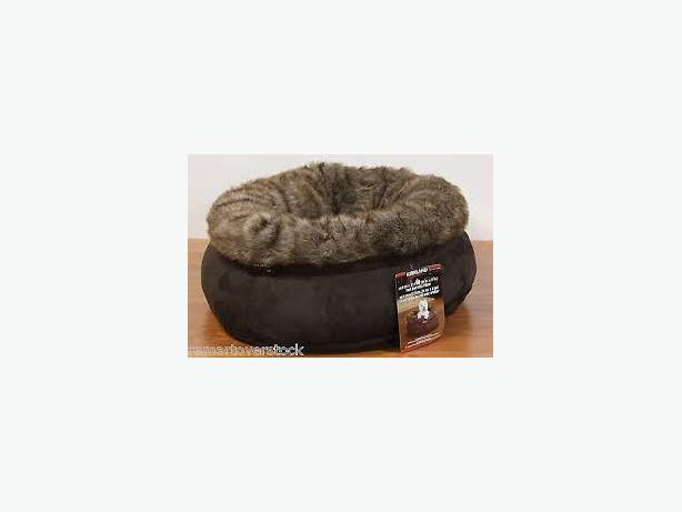 """new kirkland signature snuggler pet bed 24"""" victoria city"""