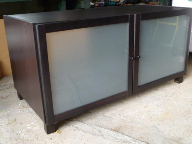 IKEA Benno Black Brown TV Stand Central Ottawa Inside