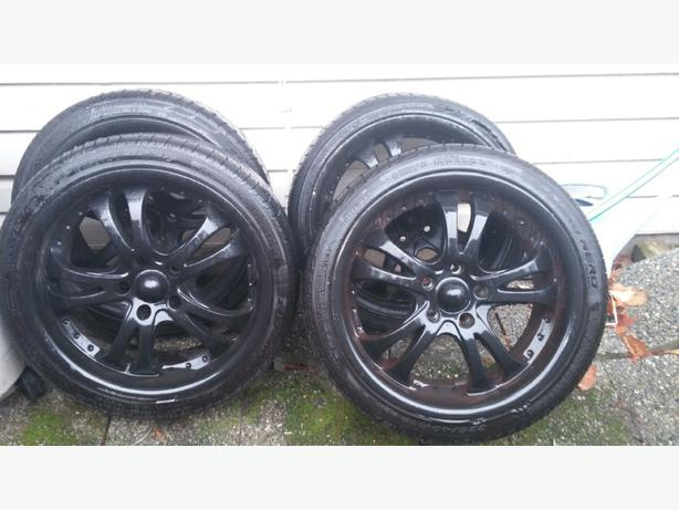 awesome rims with low pro tires north saanich sidney victoria. Black Bedroom Furniture Sets. Home Design Ideas