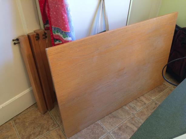 free older ikea kitchen table particle board not solid wood 48 in