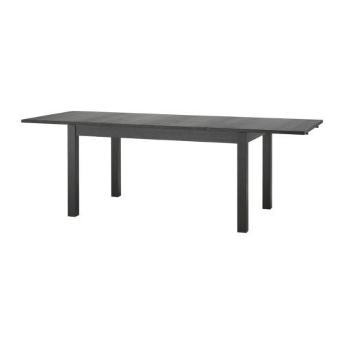 bjursta ikea expandable dining table 6 to 8 or 10 person black brown south east calgary. Black Bedroom Furniture Sets. Home Design Ideas
