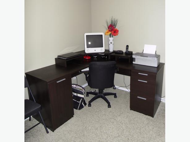 Corner computer desk office chair for sale rural regina regina - Used office desk for sale ...