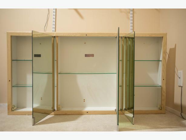 Bathroom Triple Vanity Mirror Medicine Cabinet Esquimalt View Royal Victoria
