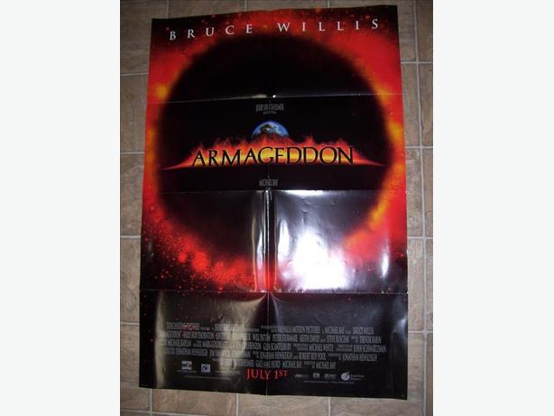 huge armageddon 1998 original full sized movie poster 27 34 x
