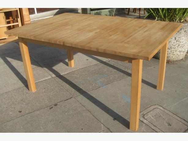 log in needed 200 ikea solid wood table