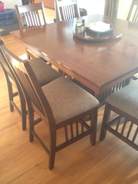High Large Square Dining Table And 8 Chairs Saanich Victoria