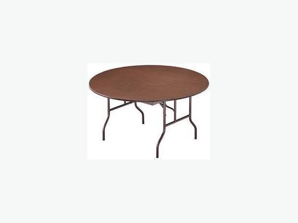 USED FOLDING TABLES - WOOD TOP, METALLIC LEGS, STRONG, CIRCULAR TABLES 54/48""