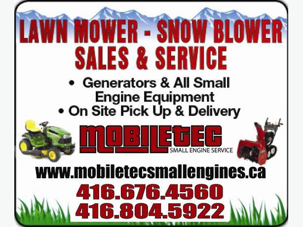 Mobiletec Snowblower Lawnmower Repair Toronto GTA TORONTO CITY, Toronto