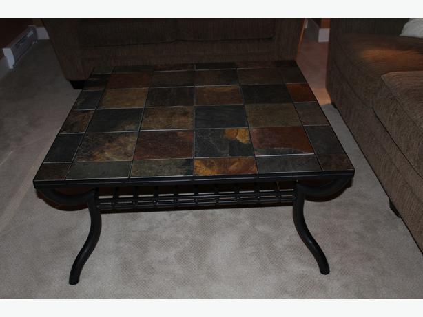 Slate Tile Coffee Table Duncan Cowichan