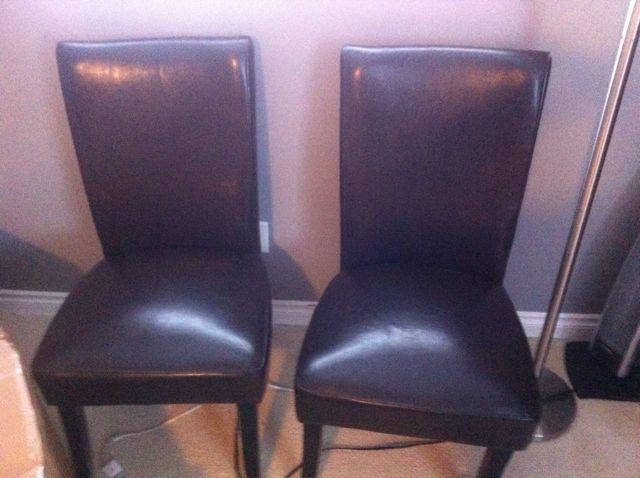leather dinning chairs for sale oak bay victoria