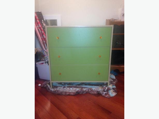 One green ikea dresser with orange knobs victoria city for Ikea in orange county