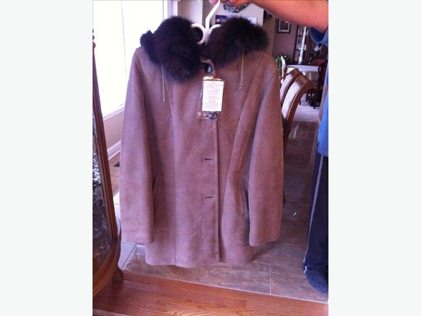 Women's European shearling coat
