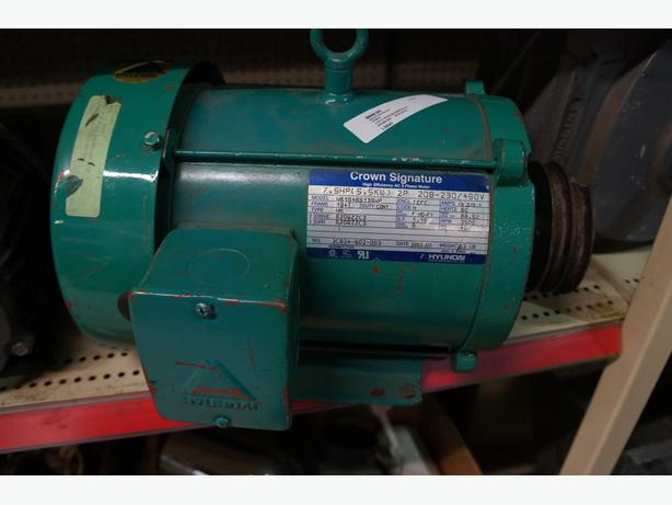 Industrial hyundai crown signature 3 phase 7 5 hp electric for 7 5 hp electric motor 3 phase