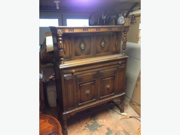 Antique North American Furniture Co Armoire Circa 1930 Oak Bay Victoria