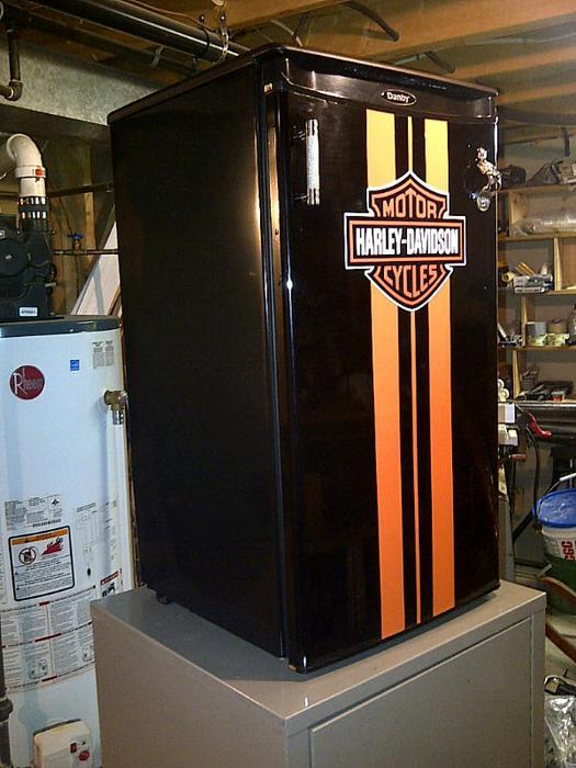 Harley Davidson Style Mini Bar Fridge Sault Ste Marie