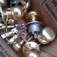 BRASS PASSAGE DOOR HANDLES NOBS AND HARDWARE