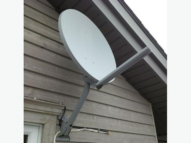 Large ExpressVu (BellTV) satellite dish made for Northern Canada