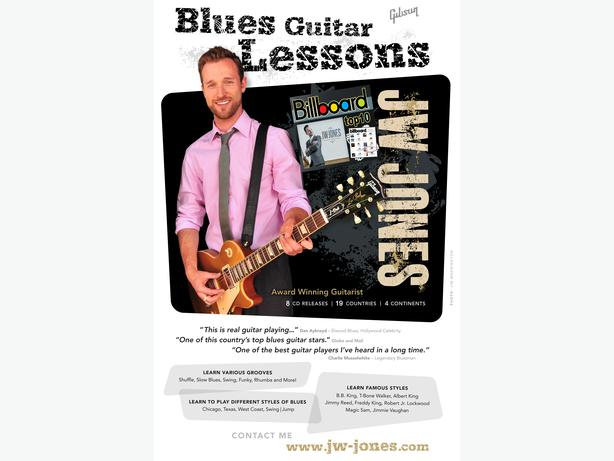 BLUES GUITAR LESSONS with JW-JONES (Juno Award Nominee)