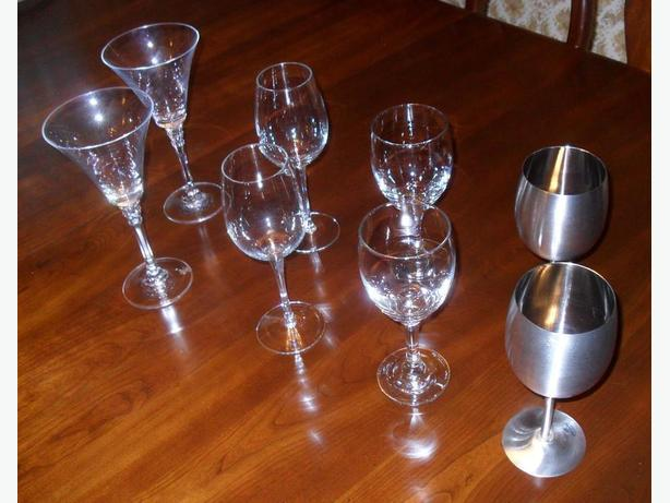 4 Pairs of Like-New Rarely Used Tall Stemware Items