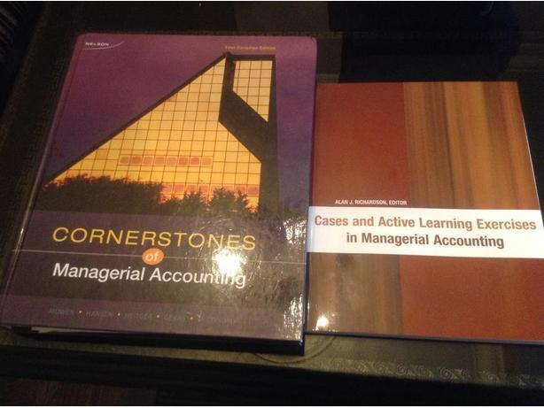 Cornerstones of Managerial Accounting Textbook