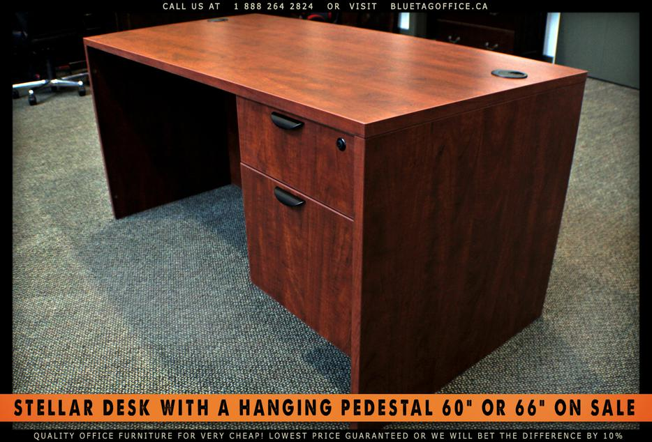 Office Desk With Single Hanging Pedestal On Sale Campbell