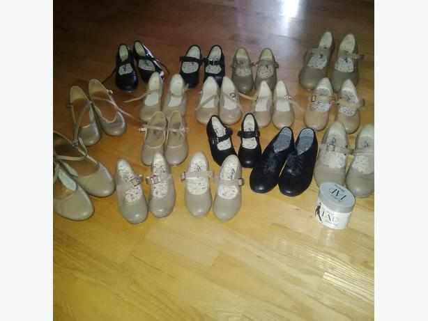 Selling lots of dance shoes and slippers + body suits