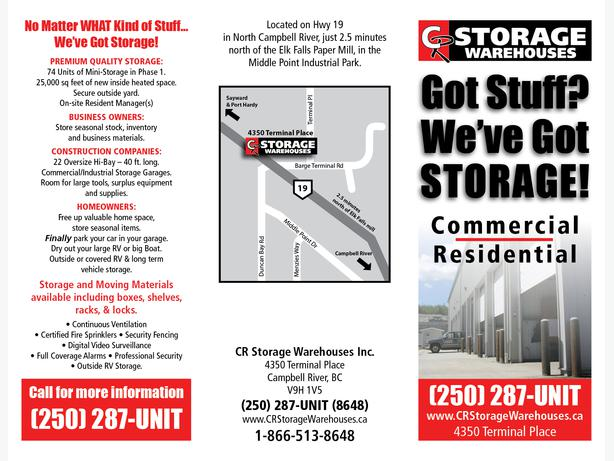 Quality Heated Storage - RV's, Household, Commercial - Campbell River BC