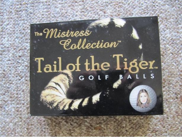 Tail of The Tiger. The Mistress Collection. Tiger Woods Golf Balls. One Dozen