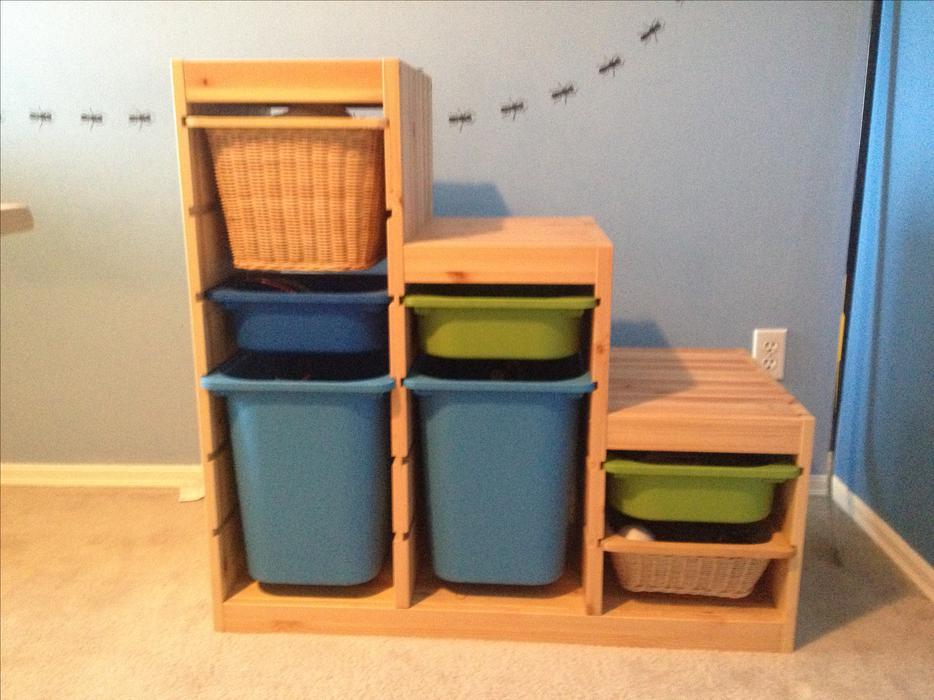 Ikea Kinderbett Kritter Rot ~ Ikea Trofast Storage units with bins Saanich, Victoria