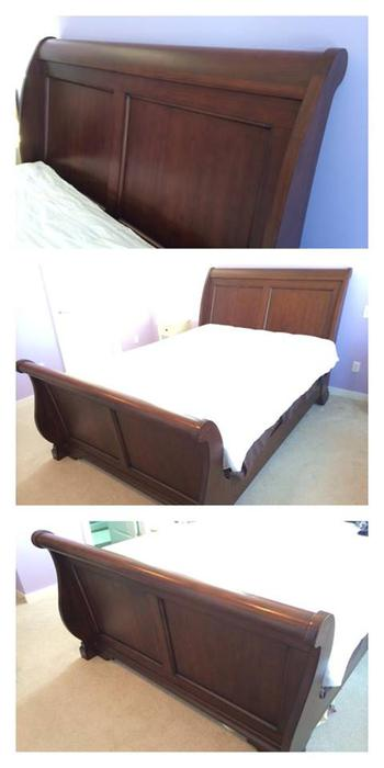 Solid Wood Queen Sleigh Bed Frame Langley Vancouver