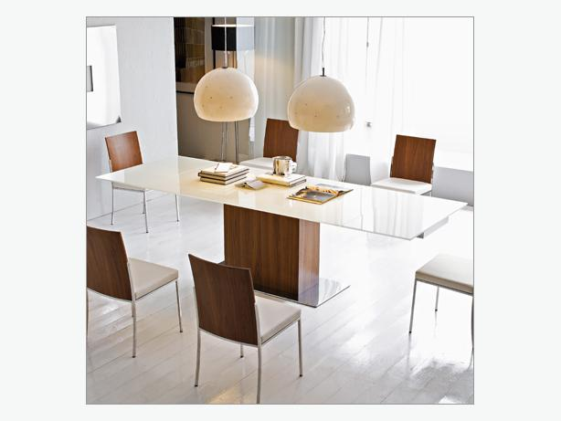 Calligaris glass dinning table sideboard and chairs  : 44391252614 from www.usedvictoria.com size 614 x 461 jpeg 25kB