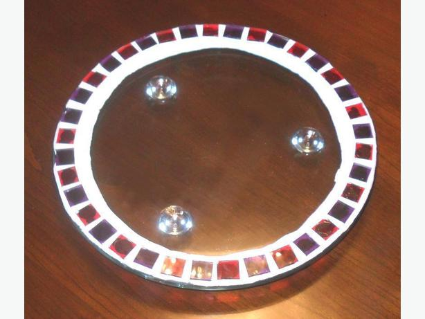 Heavy Round Clear Flat Glass Display Plate