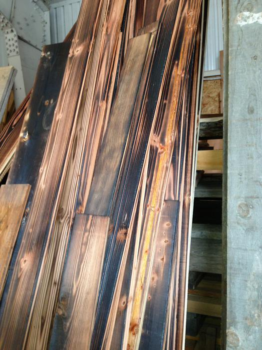 Fir Carbonized Charred Wood Panel Wood Clearance