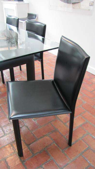 leather dining room chairs black made in italy vancouver city